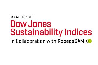 Logo Dow Jones Sustainability Index (DJSI World)
